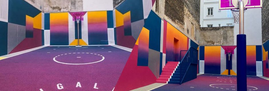 À Paris, visitez le terrain de basket le plus coloré de France