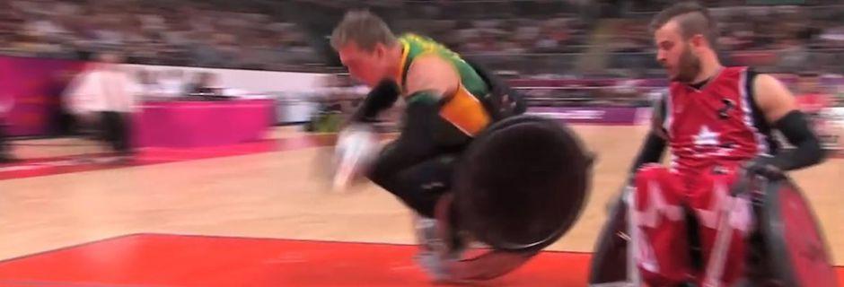 Début des Jeux paralympiques 2016 : le rugby-fauteuil est au moins aussi spectaculaire que chez les valides