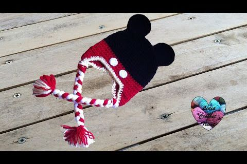 Tutos bonnets Minnie et Mickey au crochet