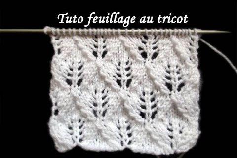 Tuto point de feuilles au tricot