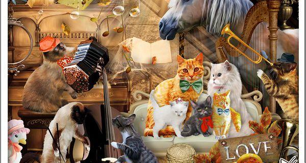 """""""WHEN CATS PLAY JAZZ"""" de Kittyscrap"""