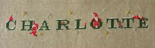 Ma broderie pour Charlotte