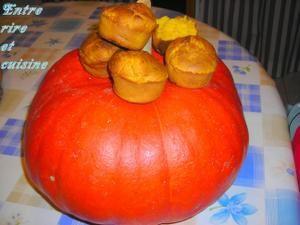 Muffins potimarron et noix de coco
