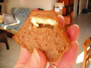 Muffins coeur blanc au Nesquick