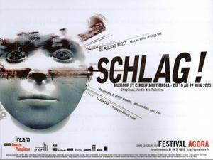 Affiche de Schlag ! (opus 1-2003) de Roland Auzet