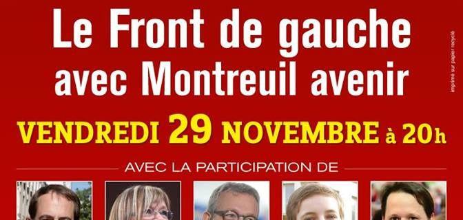 Meeting Montreuil Avenir - Vendredi 29 novembre