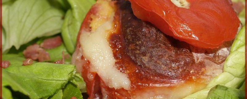 Tomates farcies Polenta - Cabécou