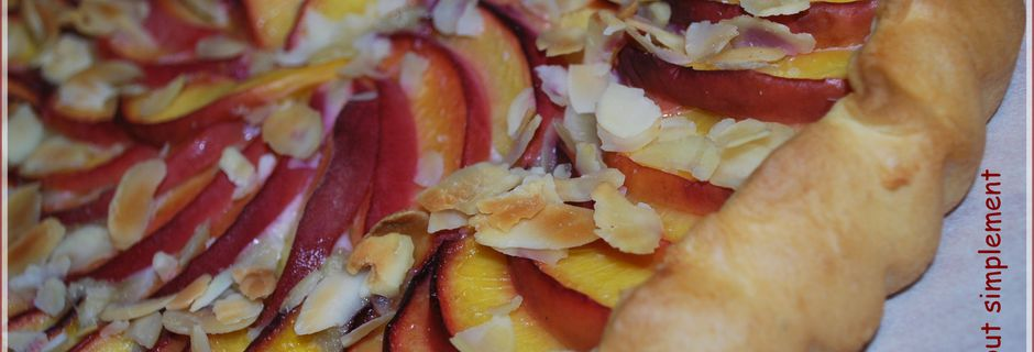 Tarte Amandes - Pêches, Nectarines