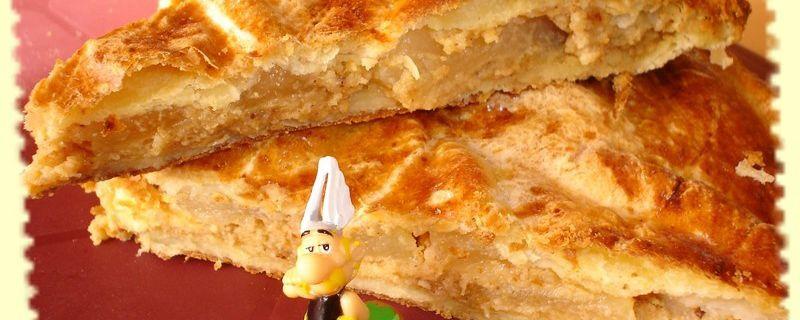 Galette des rois à la poire et au pain d'épices