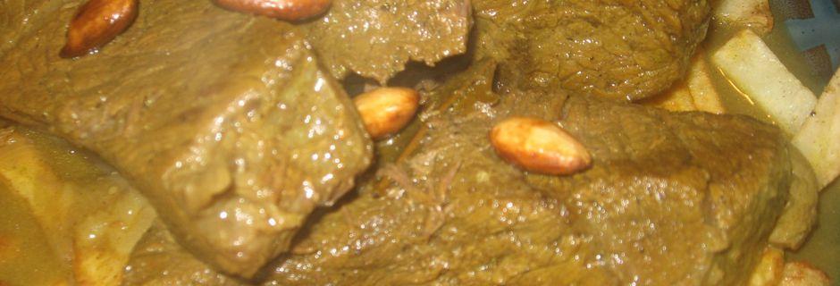 Viande Rotie en cocotte محمر