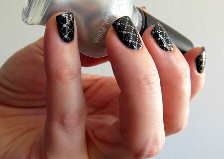 Nail Art Stamping Résille