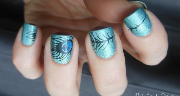 Nail Art - Peacock Feather
