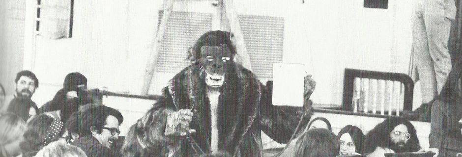 Flux-Mass @ Alison Knowles as Gorilla. 1970. Photo : Das Anudas