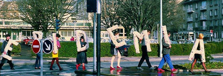 Action dans la rue @ Joël Hubaut. 1978. Caen