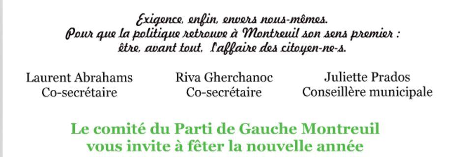 Cérémonie des vœux 2014 du Parti de Gauche de Montreuil