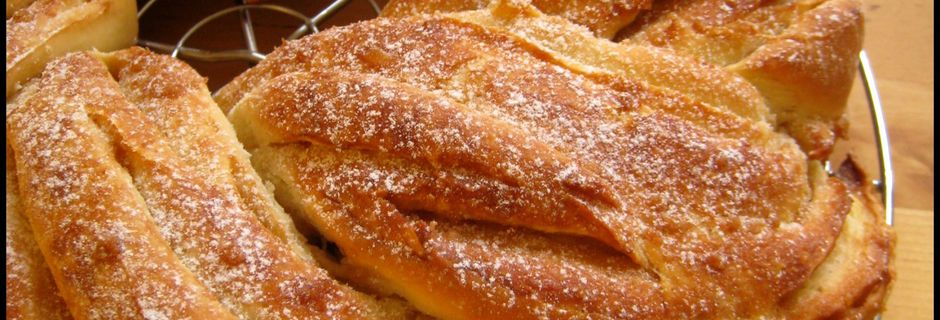 Kringle estonien (brioche), au sucre d'érable