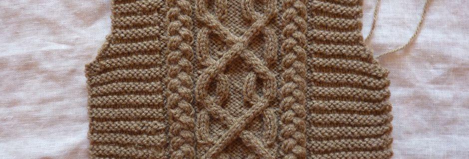 Quand je ne brode pas je tricote