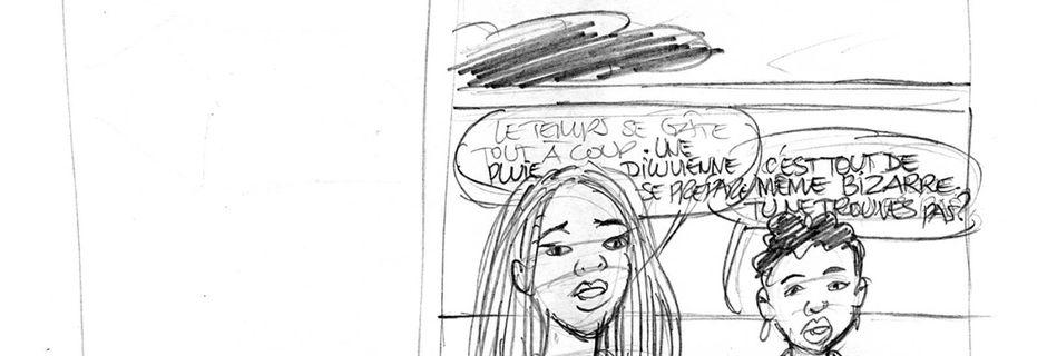 """Crayonnés de la Bd """" Amour impossible?""""(7)"""