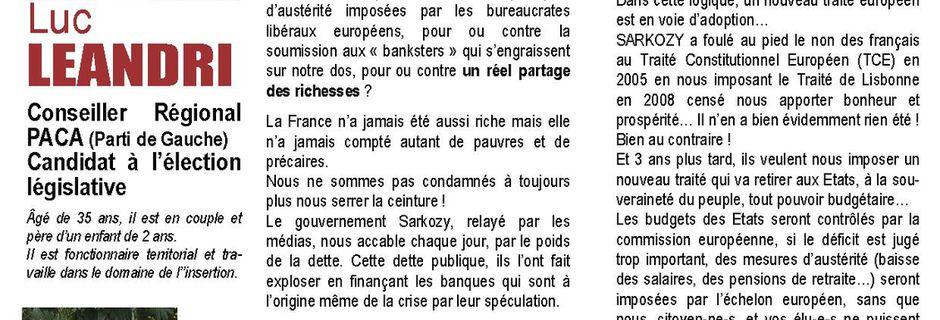 """""""Prenez le pouvoir"""" décliné dans la 2ème circonscription du Var"""