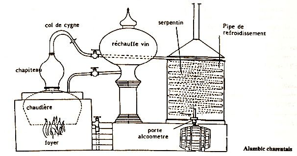 La distillation charentaise