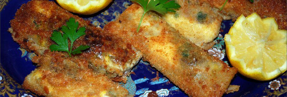Boureck panée au poulet et champignon