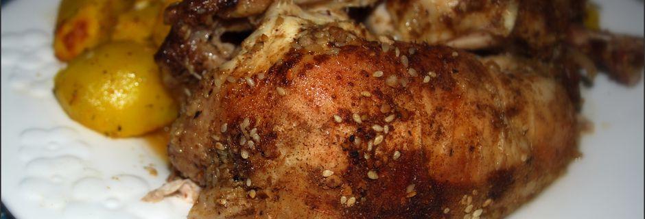Poulet mariné Dukkah
