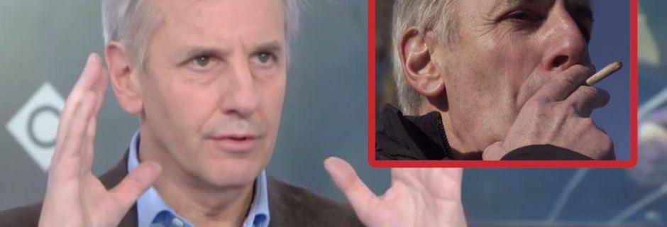 """Bernard de la Villardière fume un joint sur M6 et explique dans """"C à Vous"""" que le cannabis le rend agressif et parano"""