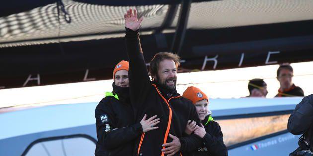 Beaucoup de barbe et encore plus de fatigue pour Thomas Coville à la fin de son tour du monde record