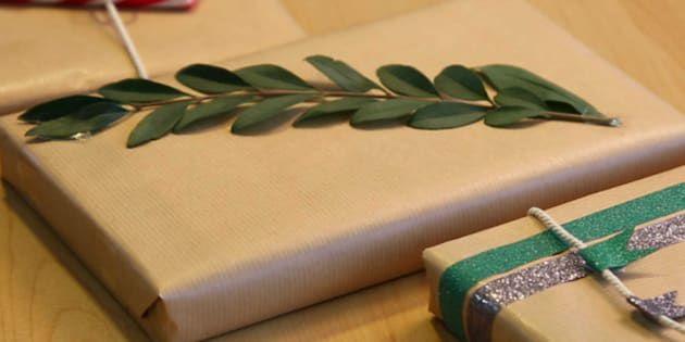 Joyeuses fêtes ! Comment faire de jolis emballages cadeaux de Noël avec... du papier kraft