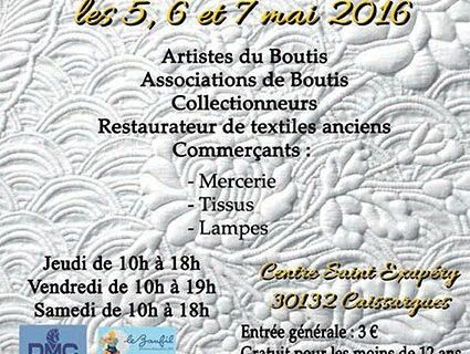Salon National du Boutis 2016 à Caissargues