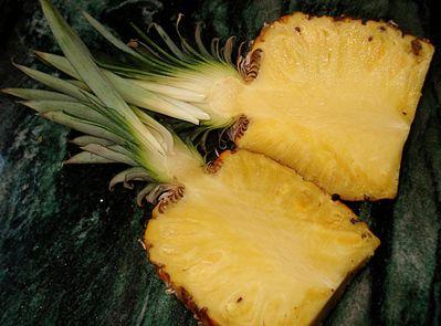 Ananas fondant caramélisé