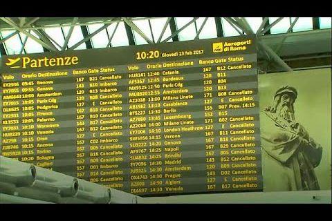 إضراب في المطارات الإيطالية