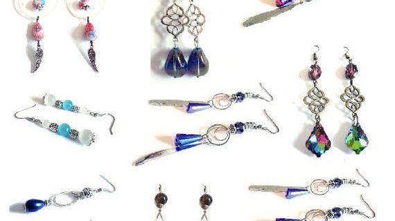 Boucles d'oreilles , vintage Lot de 9 paires