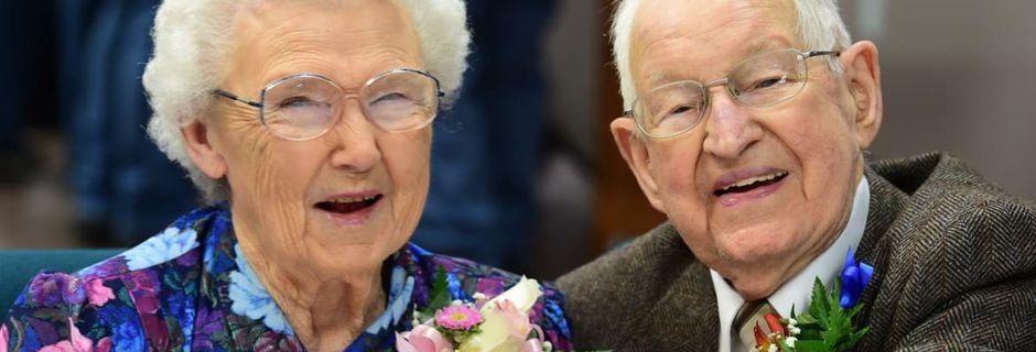 Irma et Harvey habitent à côté de Seattle et ont fêté leurs 75 ans de mariage
