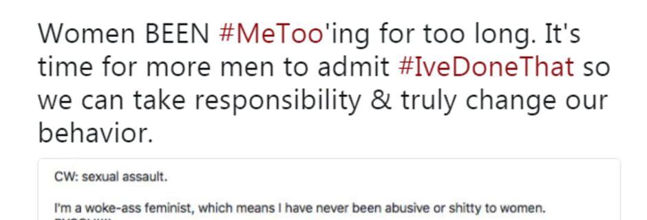 Après #BalanceTonPorc, serait-ce au tour des hommes de témoigner sur #IveDoneThat ?