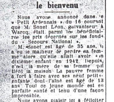 Famille Sonet de Warcq