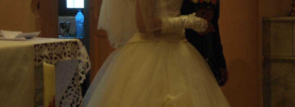Robe de mariée le grand jour.