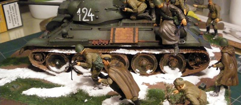 Diorama n°23 Troupes russes en action