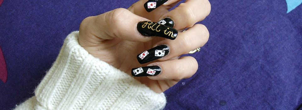 nailart poker ! 2eme version :)