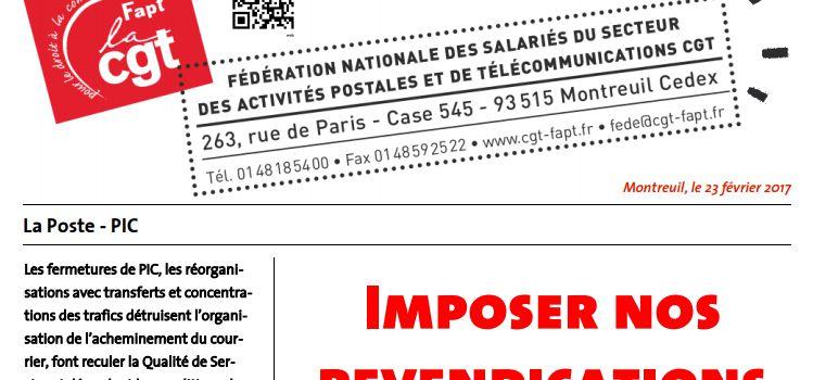 Tract CGT FAPT sur le 7 mars dans les PICs...