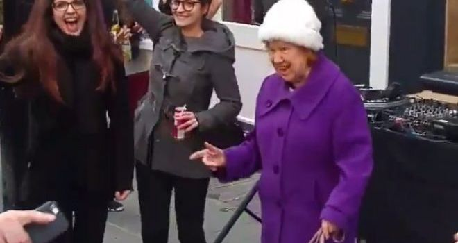 This elderly lady dances to #DaftPunk better than you
