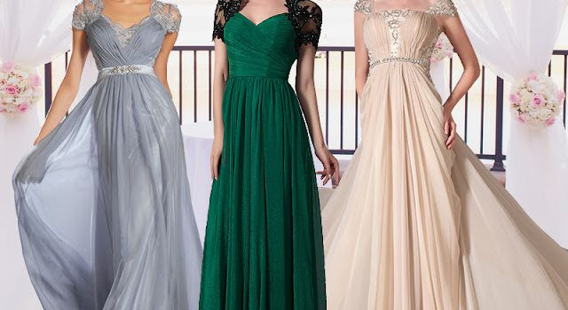 A-line Pleated Long Maxi Eveing & Prom Dresses