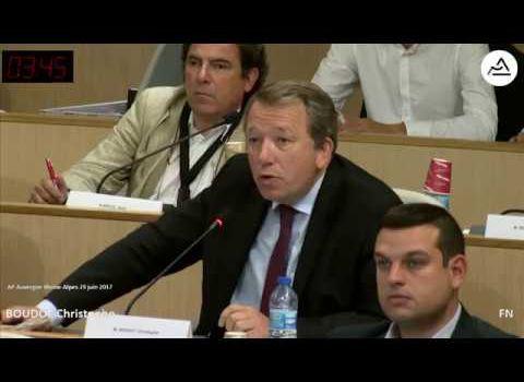 Christophe Boudot (FN) sur le compte administratif 2016 au Conseil Régional Auverge - Rhône-Alpes