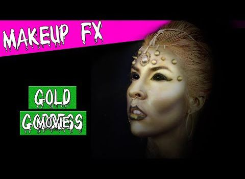 Makeup FX: déesse d'or Halloween maquillage artistique