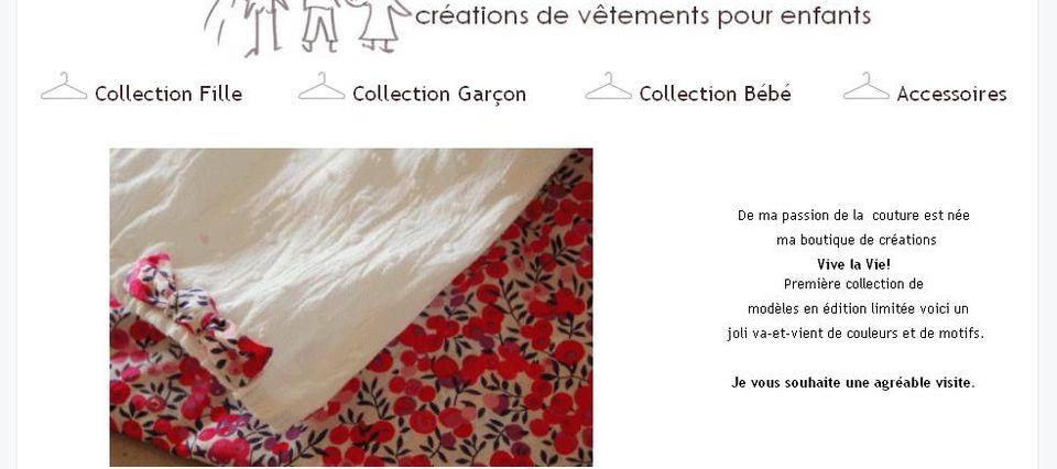 """Création blog-boutique """"Vive la vie"""""""