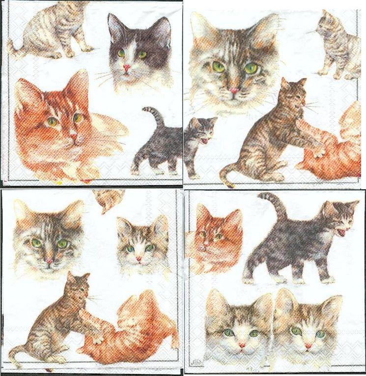 Serviette papier motif animaux pour la décoration d'objets