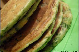 Crêpes aux bettes (blettes) et mimolette