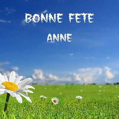 """BONNE FETE A TOUTES LES """" ANNE """""""