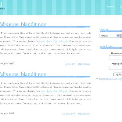 Blue White Drupal Theme