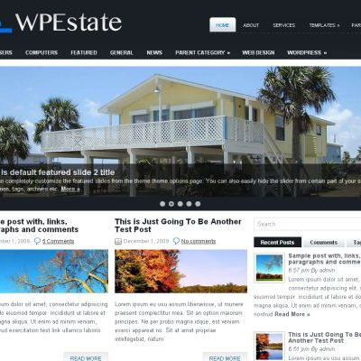 Free RealEstate Black Jquery Wordpress Theme Template